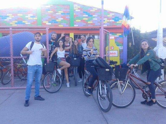 Coquimbito, Argentinië: Turistas disfrutando nuestro nuevo local