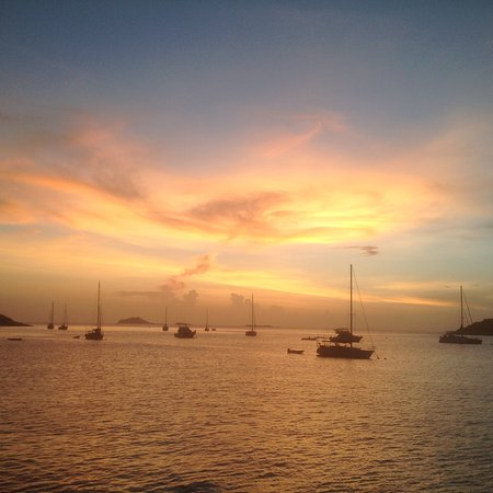 Water Island, St. Thomas: Sunset from M/V Friendship