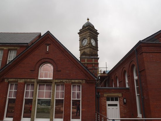 Ebbw Vale, UK: Front view of building