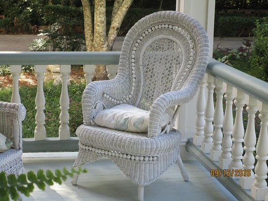 Monticello, FL: wicker porch furniture at John Denham House