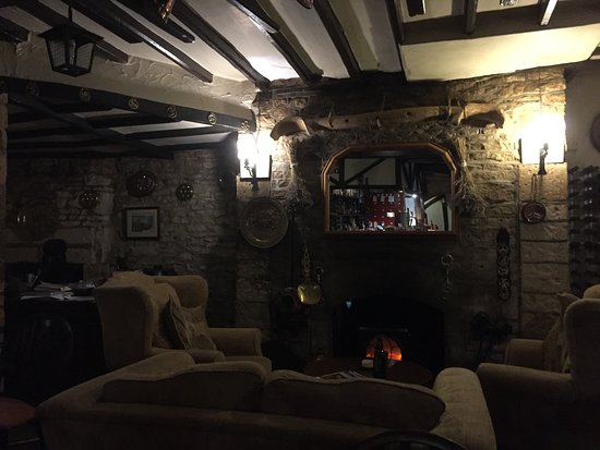 Fifield, UK: Fireplace area
