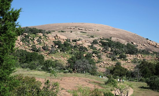 enchanted rock from the summit trail 17 miles from