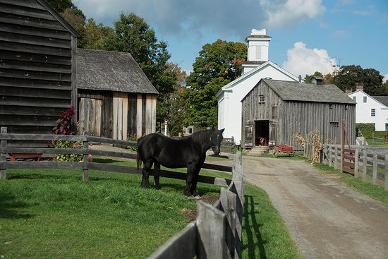Cooperstown, NY: HIstoric buildings and horse corral