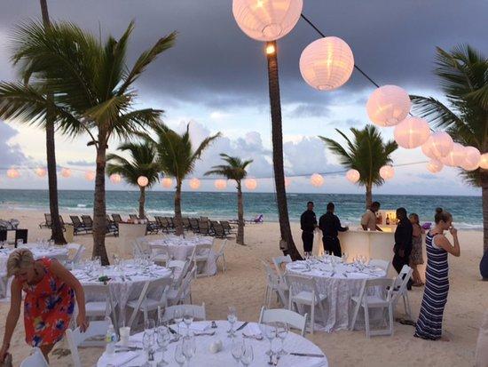 Paradisus Punta Cana Resort Pre Wedding Dinner On The Beach