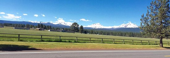 The Three Sisters Mountains can easily be viewed from Sisters Motor Lodge.