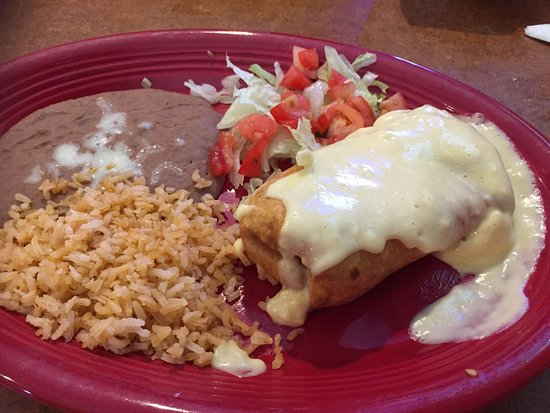 Long Beach, MS: Juan's Chimichanga was pretty good but not the best I've had.