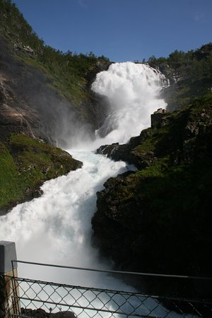 ‪‪Aurland Municipality‬, النرويج: Kjosfossen Waterfall‬