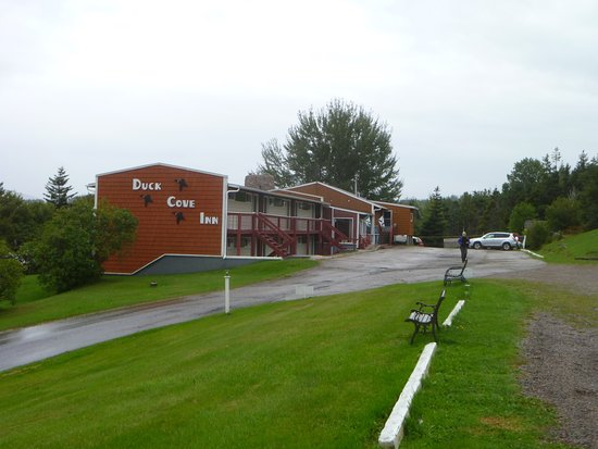 Margaree Harbour, Canadá: View of the Main Building and Restaurant from the Motel Units