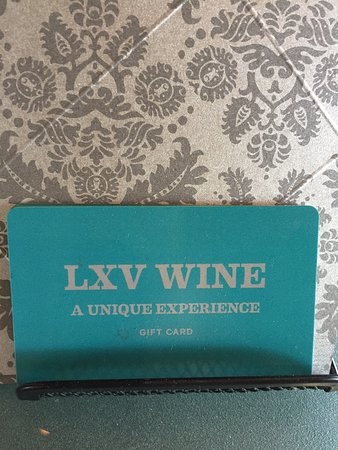 LXV Wine: Give a gift certificate sure to please