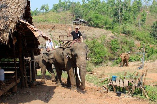 Provincia di Chiang Mai, Thailandia: Mai 2016 Verlassen des Camps zum Ausritt