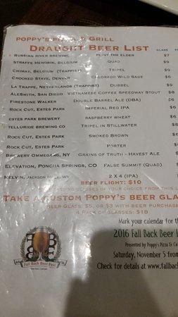 Grand Lake, Колорадо: Draft beers