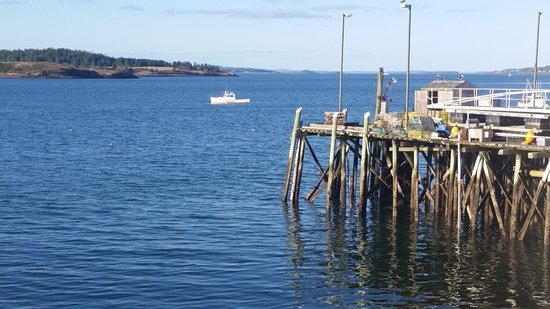 Lubec, ME: View from the deck of our room