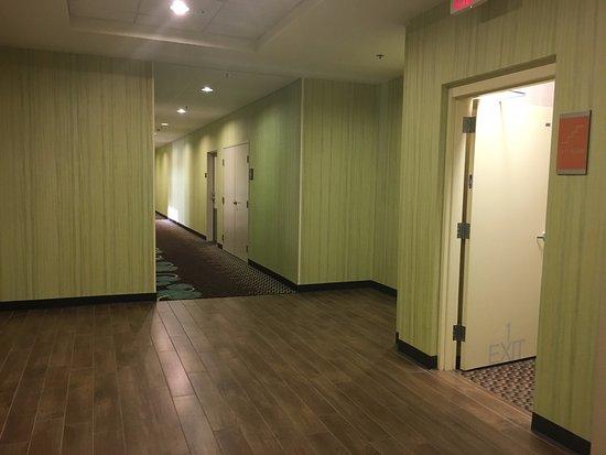 Hampton Inn & Suites Huntsville / Research Park Area: connecting area photo taken standing in Home2 hallway looking at the Hampton Inn Hall way