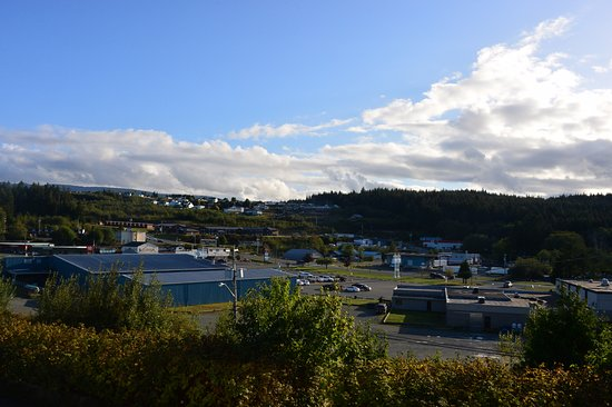 Port McNeill, Canadá: 窓から見た街の景色