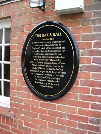 The Bat Ball Plaque On Wall