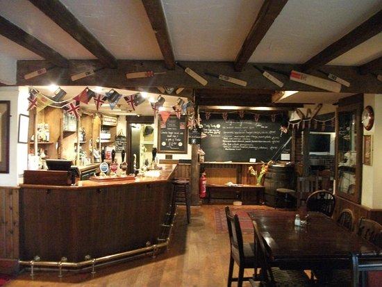 The Bat And Ball Inn Bar Area