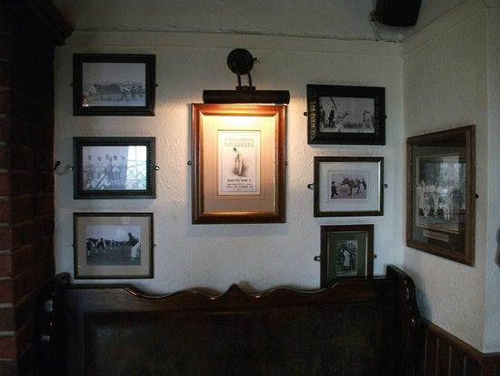 The Bat And Ball Inn Memorabilia On Walls