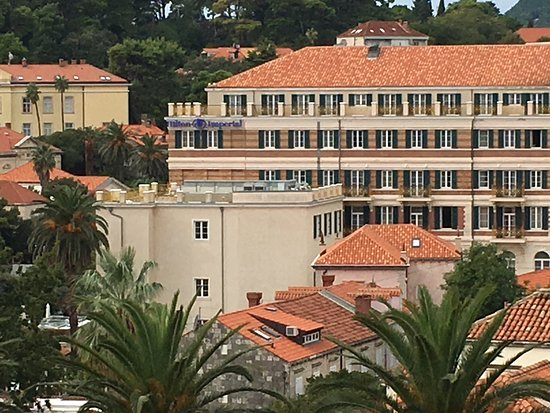 Hilton Imperial Dubrovnik: View of hotel from city walls