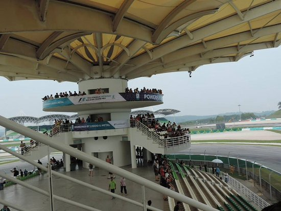 Sepang, Malasia: 180 degree views from the tower