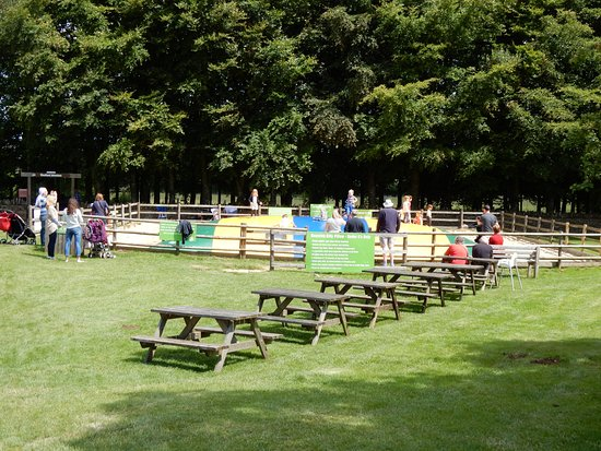"Guiting Power, UK: Children""s play area/picnic area."