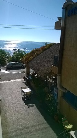 Stegna Star Hotel: this is a view from our room the beach is a 60 second walk away