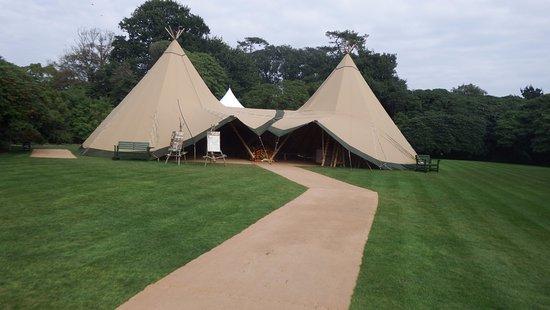 St Austell, UK: Harvest Festival Tent; excellent dispay