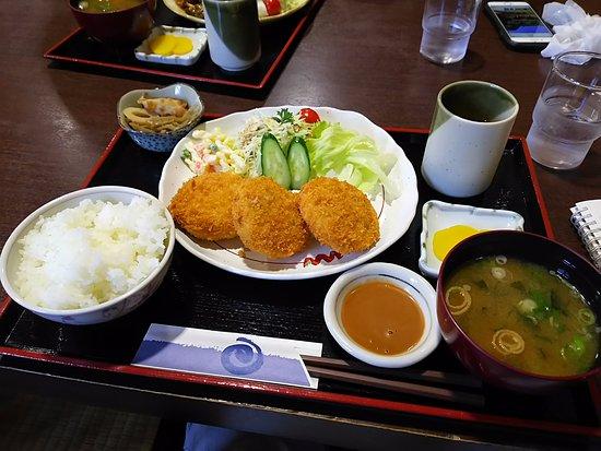 Michi No Eki Yashagaike No Sato Sakauchi Restaurant: ダチョウコロッケ定食