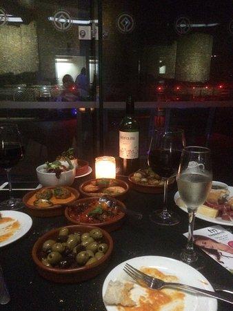 Harlech, UK: Our feast!