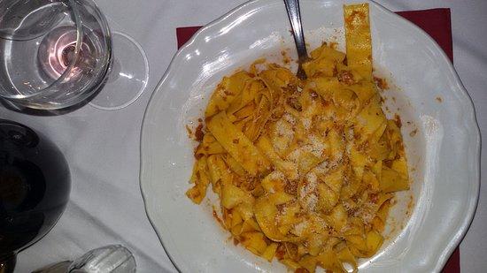 Chiusi della Verna, Italia: Tagliatelle al cinghiale.