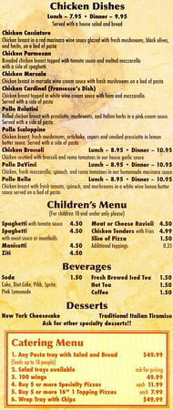 Bridgewater, VA: Menu Page 5 - Drink prices