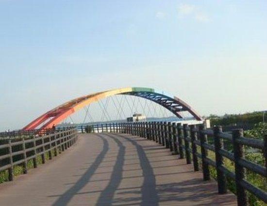Синьчжу, Тайвань: 虹の橋が見える!