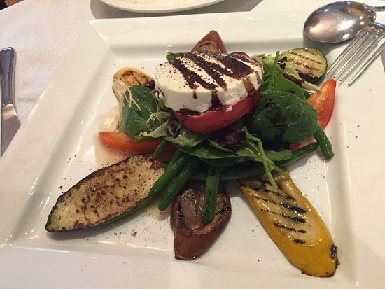 Tutto Bene: Warm goat cheese and grilled vegetables appetizer