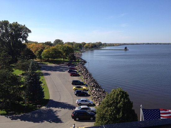Fond du Lac, Wisconsin: view of the park from the lighthouse
