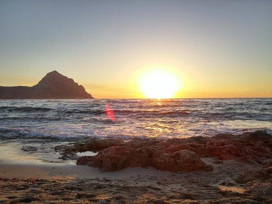 Spiaggia di Macari: tramonto