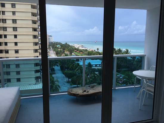 View from our room picture of 1 hotel south beach miami for Hotels with balconies