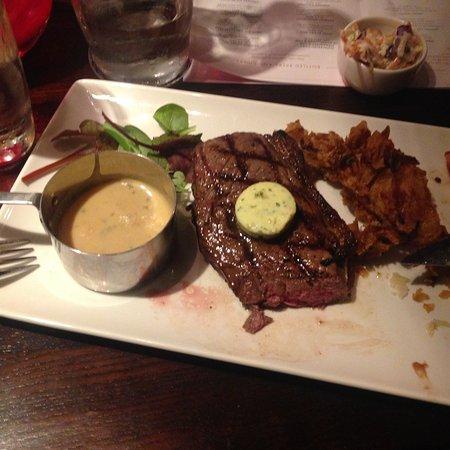 The Red Lion: rump steak