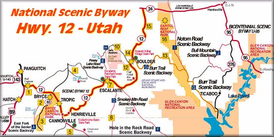 map of route 12 Picture of Scenic Byway Route 12 Escalante