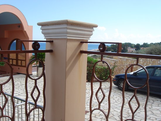 """Regina Dell Acqua Resort: This is the """"sea view"""" we paid extra for."""