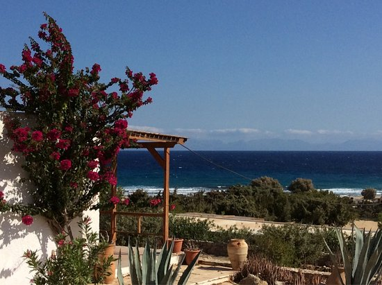 Gavdos, Grecja: Vues sur la baie de Sarakinikos depuis Consolàs studios