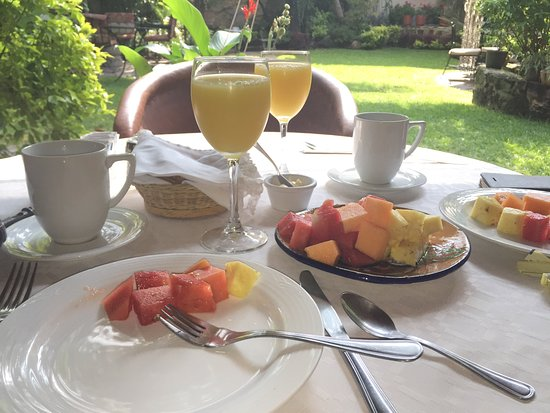 Villa Ganz: Breakfast in the garden