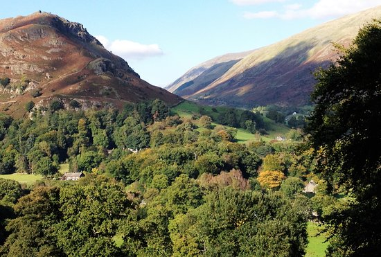 Grasmere, UK: view from hill at back of Allan Bank