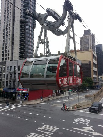 The Roosevelt Island Tramway 59th Street Bridge And Tram