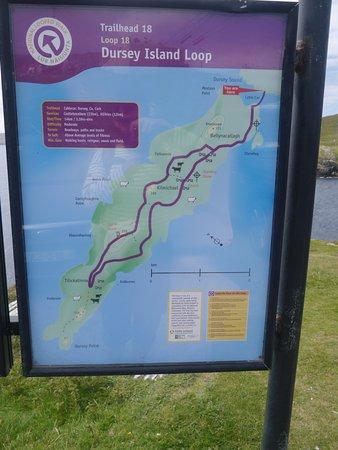 Crookhaven, ไอร์แลนด์: le plan de la rando
