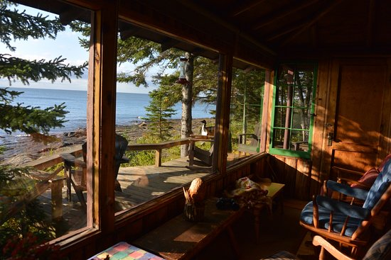 ‪‪Tofte‬, ‪Minnesota‬: Shangri-La Screened Porch‬