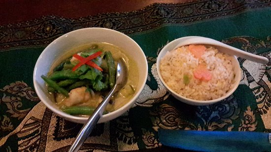 A Taste of Thailand Restaurant at Shemara Guest House : Thai Green Curry