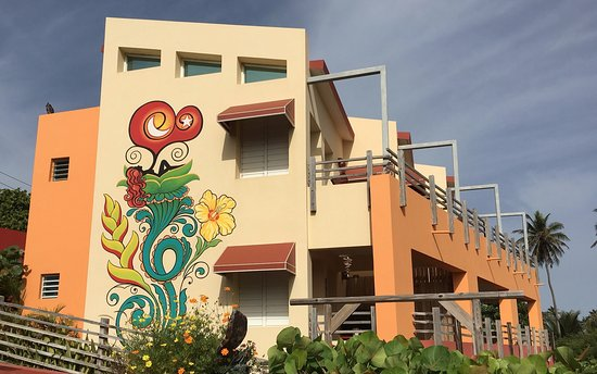 Isabela, Portorico: side of Fusion Floral ART building: taken from parking