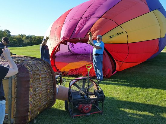 Balloons Over New England - Private Flights: Preparing for launch.