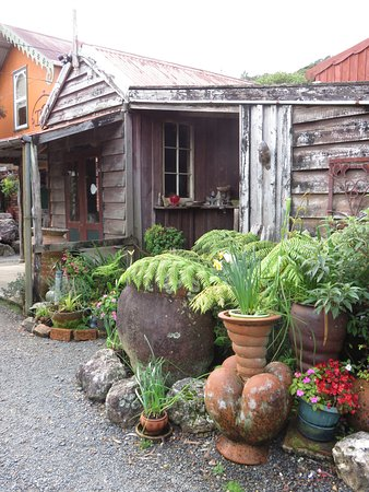 Coromandel, New Zealand: rustic buildings