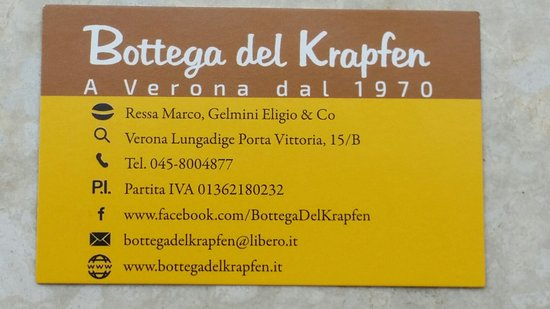 20161015110709largejpg Foto Di Bottega Del Krapfen Verona