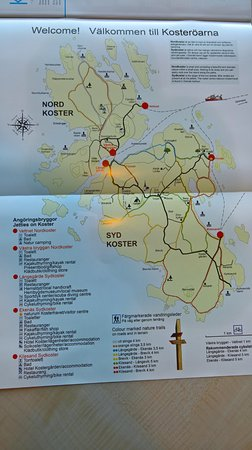 Strömstad, Sverige: Map of Koster Islands